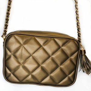 Giani Bernini Cross Body Bag With Gold Chain